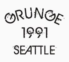 Grunge 1991 Seattle Kids Clothes
