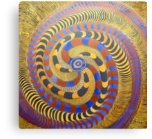 Spiraling Vision Within Canvas Print
