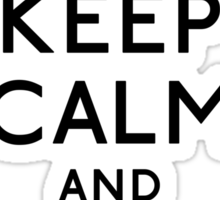 Keep Calm and Moustache On Sticker
