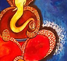 Abstract Ganesha by Manisha  Vedpathak