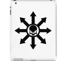 Mark of Chaos Black iPad Case/Skin