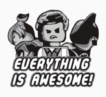 The Lego Movie - Everything is Awesome (Greyscale) by seankumar