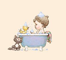 Bath time baby by vian
