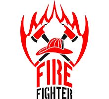 Fire flame helmet 2 axes firefighter by Style-O-Mat