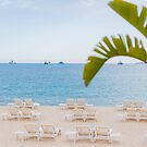french riviera beach view by faithie