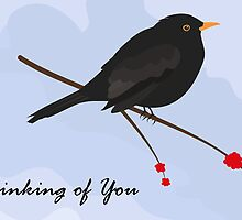 Thinking of you / Blackbird by Jacqueline Turton