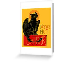 Fureur de Nuit Greeting Card