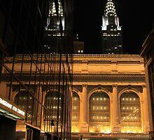 Chrysler Building & Grand Central Station, New York City by karasutherland