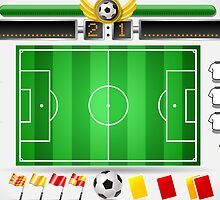 Infographic Set of Soccer Field and Icons by aurielaki