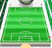 Soccer Field with Soccer Ball and Podium by aurielaki