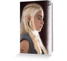 With Fire & Blood. Greeting Card
