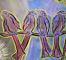 Four Disciples Singing by Robyn Scafone