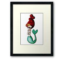 El Dia de Los Muertos Mermaid Framed Print