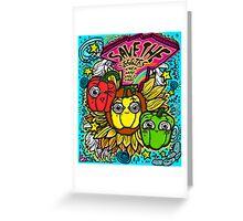 Save The Veggies Greeting Card