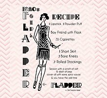 1920s Recipe for Flapper Girl in Pink  by CecelyBloom