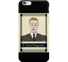 F Scott Fitzgerald Portrait in 60 seconds in yellow iPhone Case/Skin