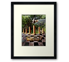 The Elemental Tourist - Earth Framed Print