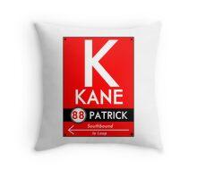 Retro CTA sign Kane Throw Pillow