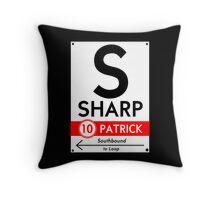Retro CTA sign Sharp Throw Pillow