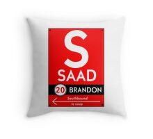 Retro CTA sign Saad Throw Pillow