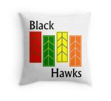 Black Hawks  Throw Pillow