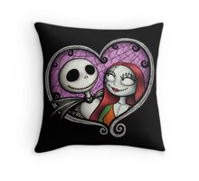 Jack and Sally Throw Pillow