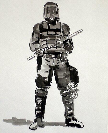 Riot Cop by Daniel Gallegos