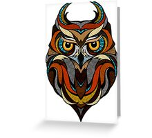 Athene Noctua Deep totem Greeting Card