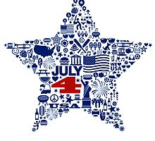 4th of July icons symbols design by DKMurphy