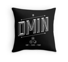 DMIN Throw Pillow