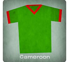 Retro Football Jersey Cameroon by Daviz Industries