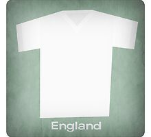 Retro Football Jersey England by Daviz Industries