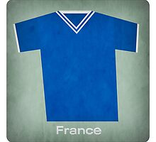 Retro Football Jersey France by Daviz Industries