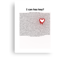 Heartbleed OpenSSL One Canvas Print