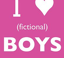 I love (fictional) boys by Samantha Weldon