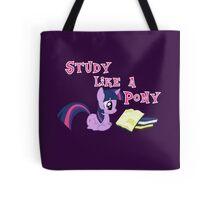 Study Like a Pony Tote Bag