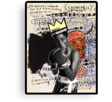 Basquiat (black border) Canvas Print