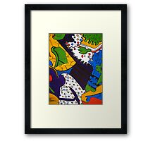 Tea for Two Abstract  Section 5 by Heather Holland Framed Print