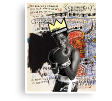 basquiat (white border) Canvas Print