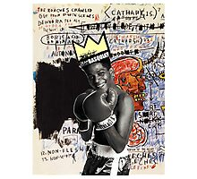 basquiat (white border) Photographic Print