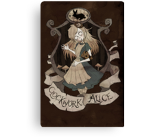 Clockwork Alice Canvas Print