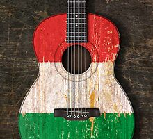 Aged and Worn Italian Acoustic Guitar by Jeff Bartels