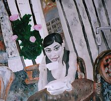 Girl in Cafe by Julie Diana Lawless