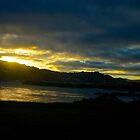 Sunset against hills by hulkingrach