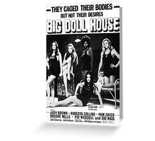 Big Doll House (Black & White) Greeting Card