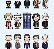 The Fourteen Doctors (card) by redscharlach