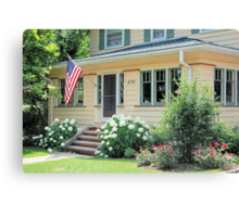 American Home Canvas Print