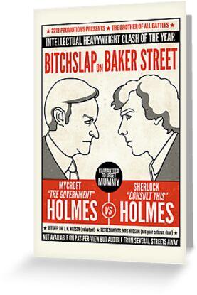 Bitchslap on Baker Street (card) by redscharlach