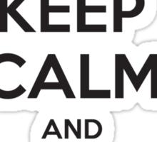 Keep calm and WAAAGH! Sticker