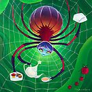 Spider Snack (Pillows & Totes) by Wil Zender